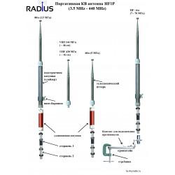 Портативная КВ антенна AR-HF1P