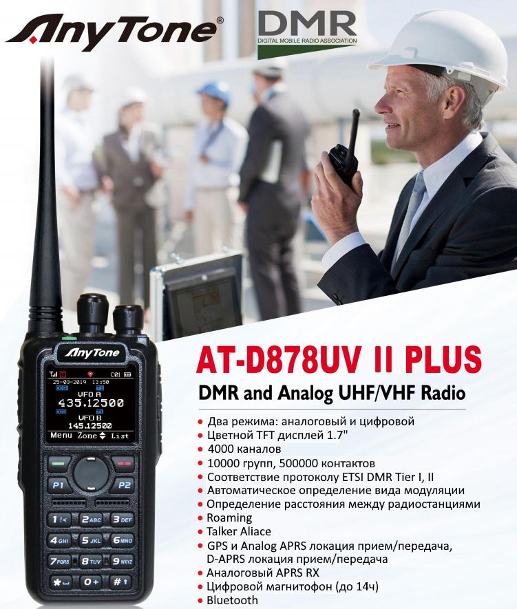 анонс Anytone AT-D878UV II Plus